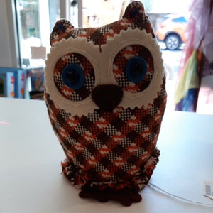 Handmade Orange Stuffed Owl