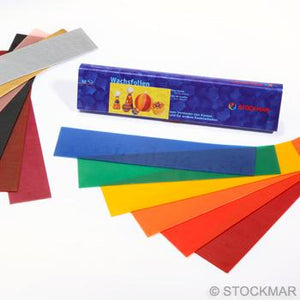 Stockmar Decorating Wax 12 Sheets Assorted