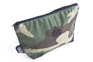 TwOOwls Green Camo accessories bag with black lotus-One size-Made in the USA