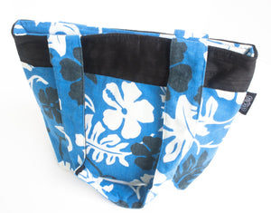 TwOOwls Blue Hawaiian medium bag with black silk-One size-Made in the USA