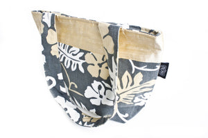 TwOOwls Champagne Hawaiian medium bag with Champagne silk-One size-Made in the USA