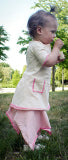 Organic Golden Baby Tunic Dress