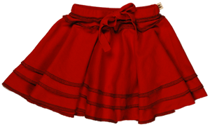 TwOOwls Red/Brown Baby ChaCha Skirt -100% organic cotton