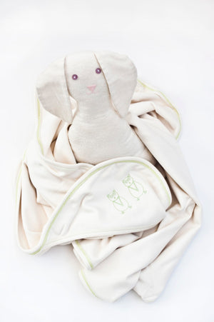 TwO Owls Soft Organic Cotton Hooded Blanket