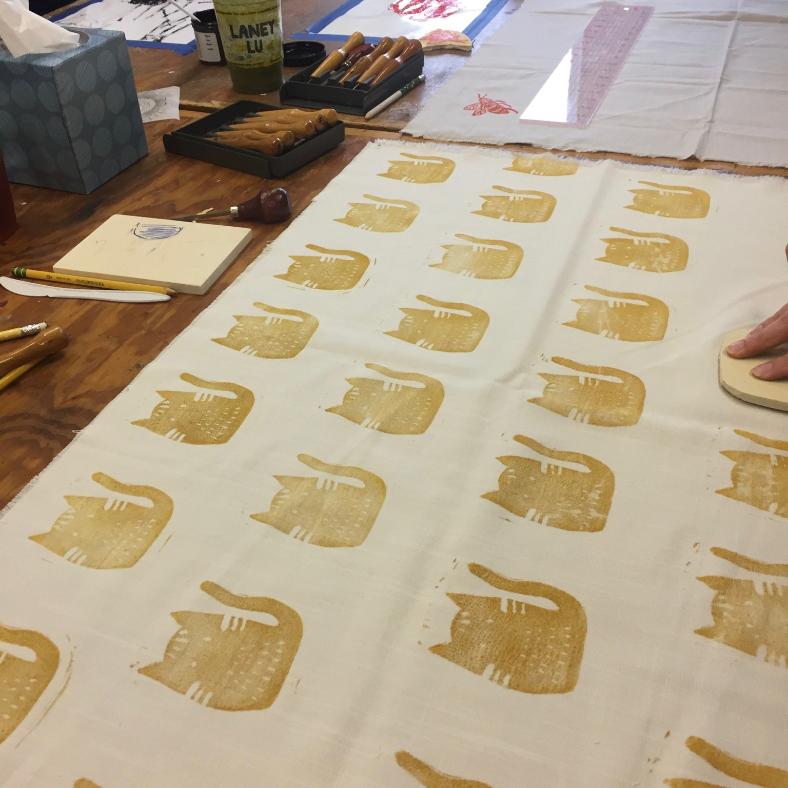 Block Printing Fabric with Sarah Koff 08/18