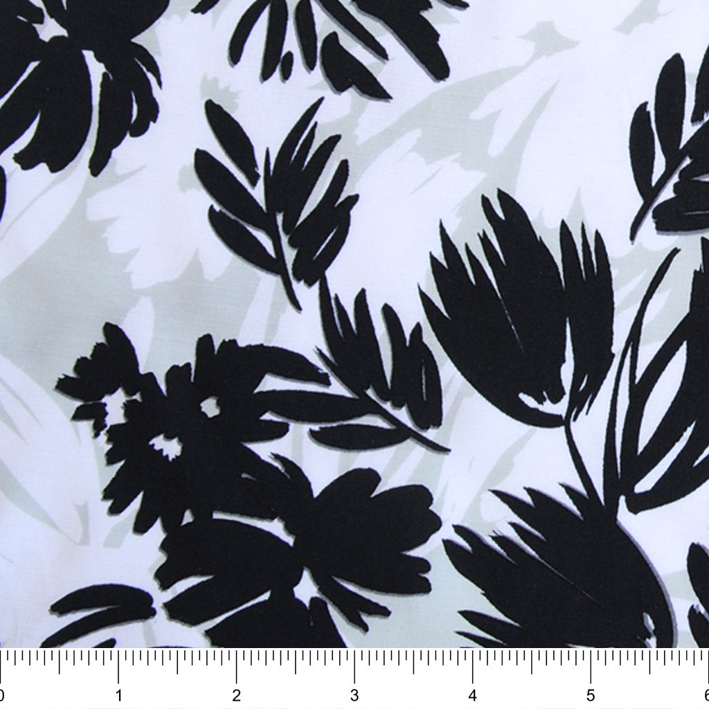 Botanical Mint Rayon Sateen