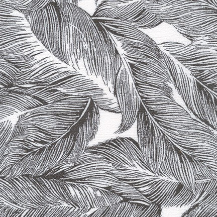 Crinkle Rayon Feathers Black/Ivory