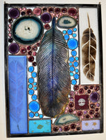 Custom - 1 One of a kind stained glass panel ready to go.