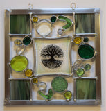 Tree of Life.  A very special stained and fused glass panel.