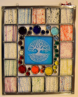 Custom 14 - One of a kind stained and fused glass panel.