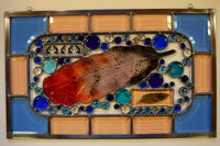 Custom - 17 - One of a kind stained glass panel ready to go.