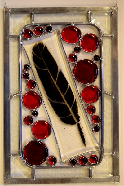 Custom - 18 -  One of a kind stained glass panel ready to go.