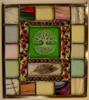Custom - 7 -  One of a kind stained glass panel ready to go.