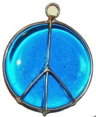 Peace Sign.  Stained glass sun catcher.