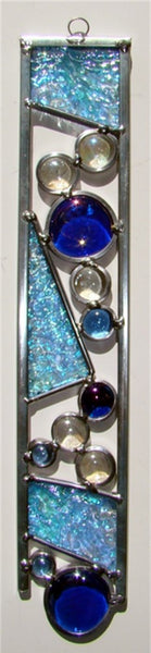 "Mini 12"" stained glass sun catcher we call a Color Strip   Ready to hang."
