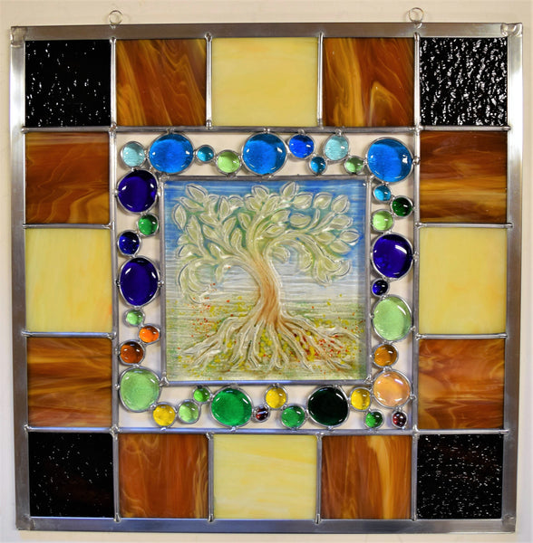 Tree of Life 2.  A beautiful stained glass panel.