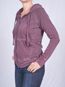 Women's Full Zip Hoodie in Mulberry