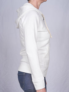 Women's Full Zip Hoodie in Natural White