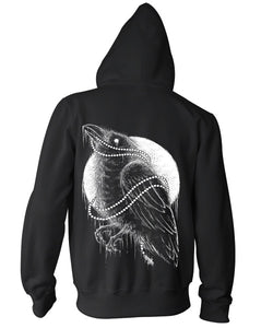 Black Bird Zip Up Sweatshirt