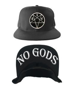No Gods Snapback Hat Black