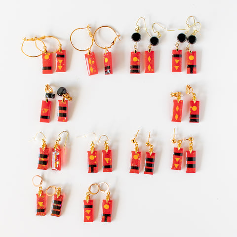 Bath Token Earrings