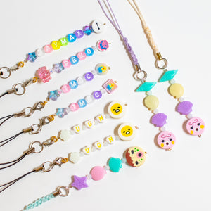 Bead Phone Charms (Straps included)