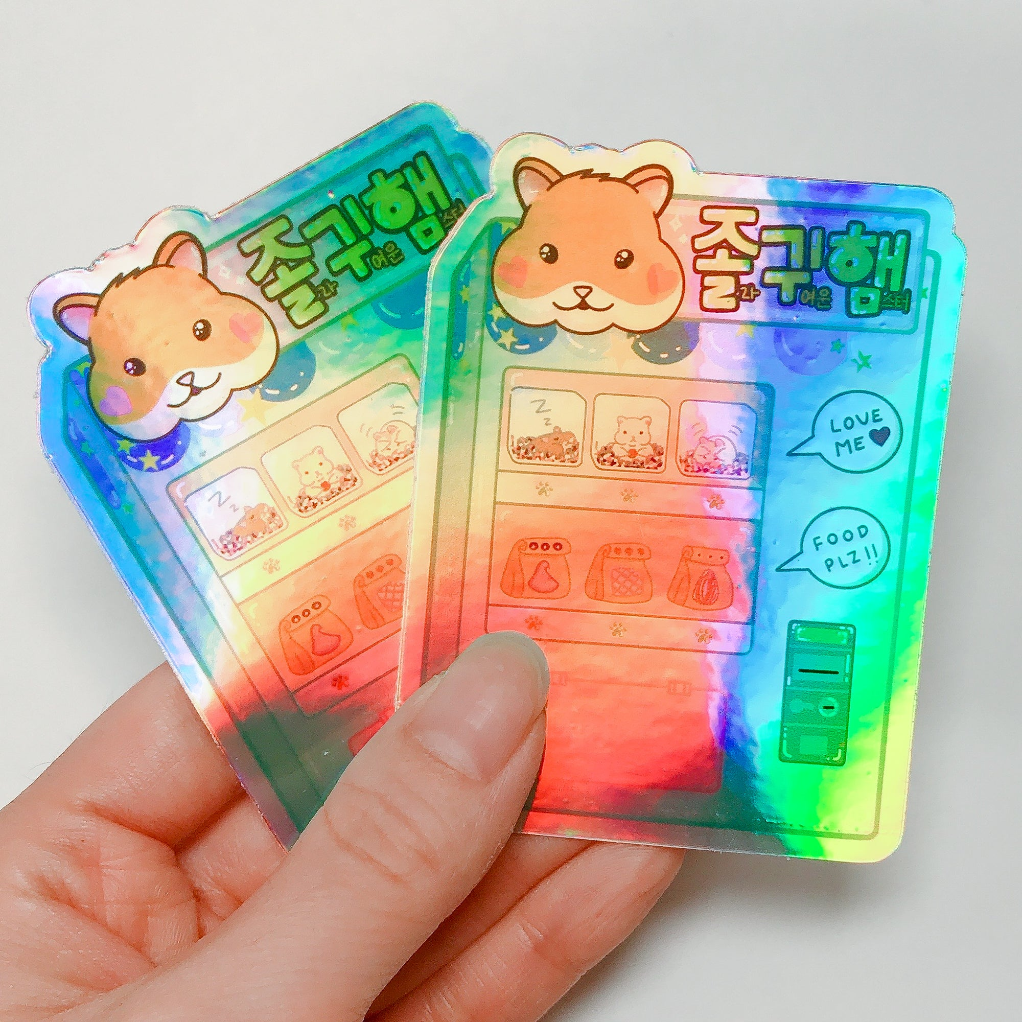 Hamster Vending Machine Sticker