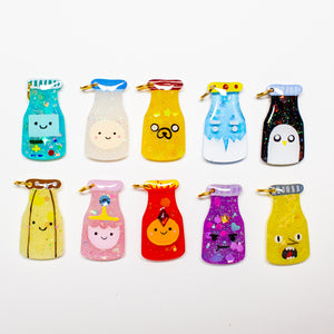 Adventure Time Drink Charms