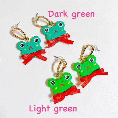 [SECOND SALE] Dark Green Frog Earrings