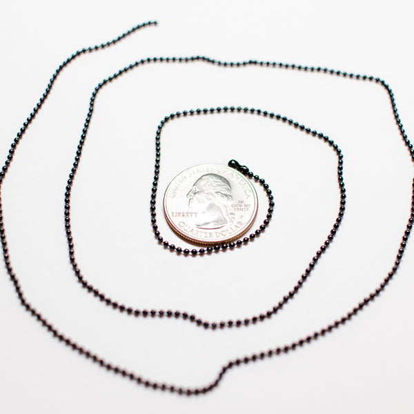 Bead Chain Necklace (1.5mm x 25.5in)