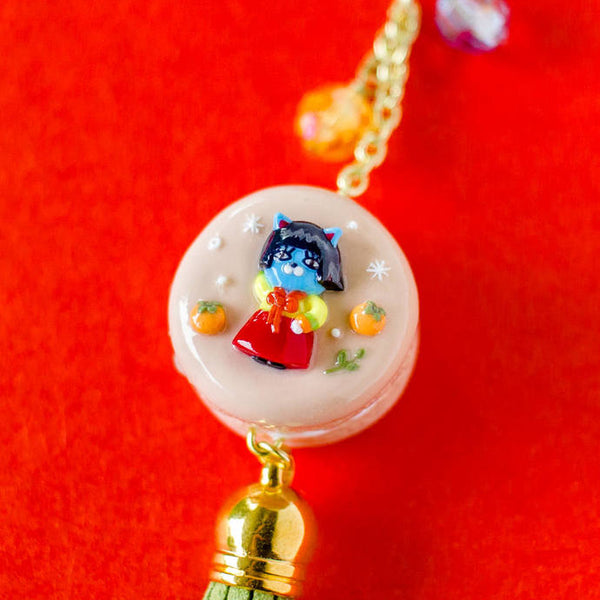 [CLEARANCE] NEO or RYAN in Hanbok Macaron Charm/Key chain