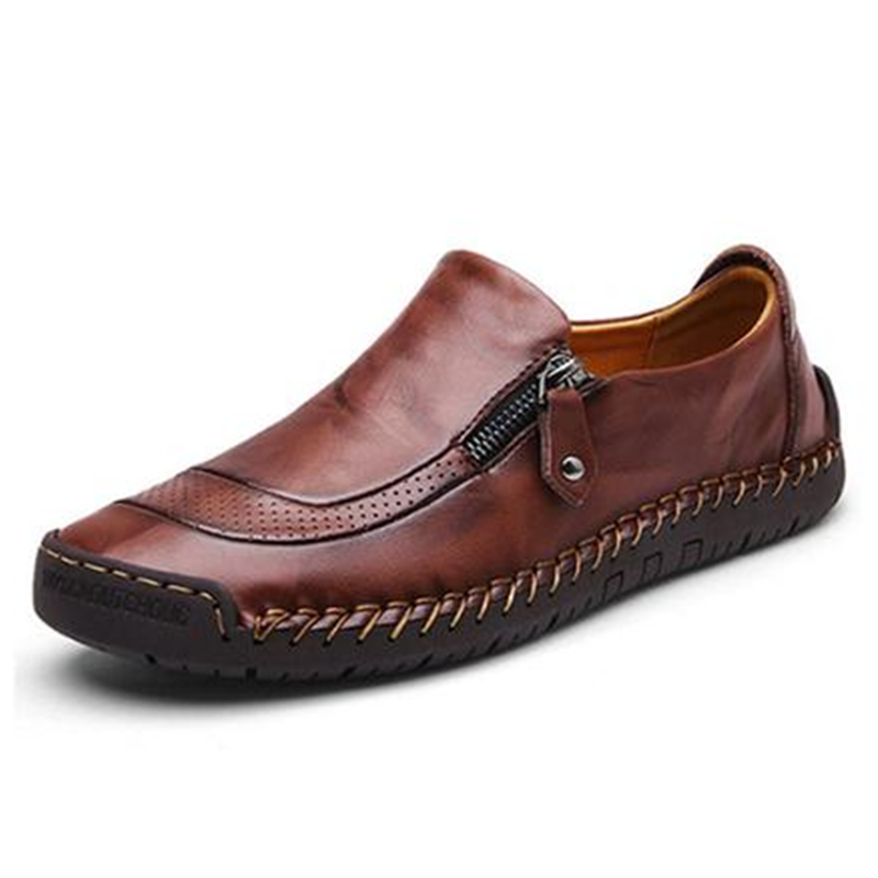 Hand-Stitched Leather Loafers