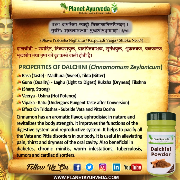 Classical Reference of Dalchini
