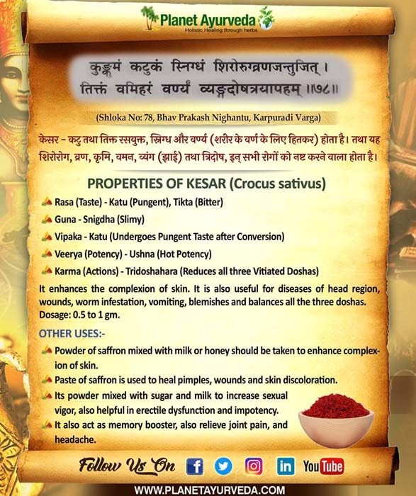 Classical Reference of Kesar