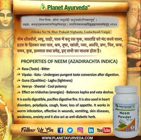 Classical Reference of Neem