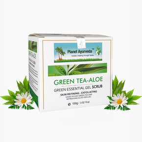 GREEN ESSENTIAL GEL SCRUB (GREEN TEA-ALOE)