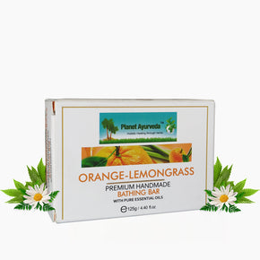ORANGE-LEMON GRASS PREMIUM HANDMADE BATHING BAR