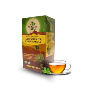 Tulsi Green Tea Ashwagandha 25 Tea Bag