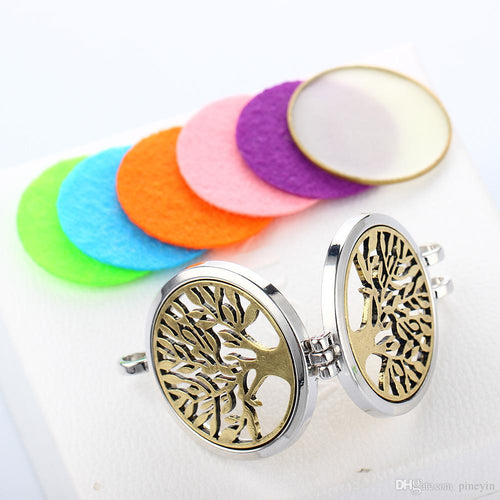 Tree of Life Diffuser Necklace with 24