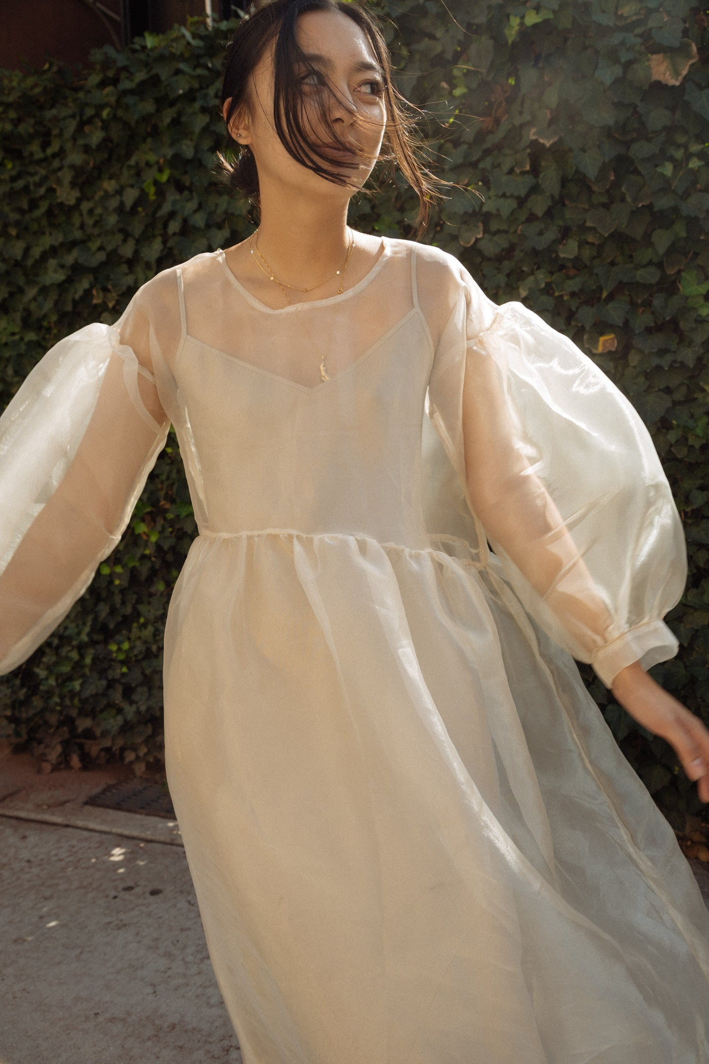 Jayme Dress in Oat Organza | Pre-Order