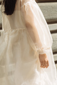 Jayme Dress in Oat Organza