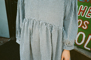 Jayme Dress in Black & White Gingham