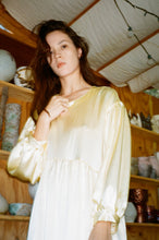 Load image into Gallery viewer, Jayme Dress in Lemon Silk Charmeuse