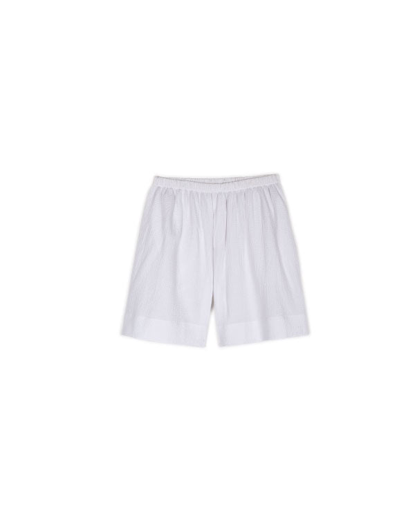 Christine Sleep Shorts in White