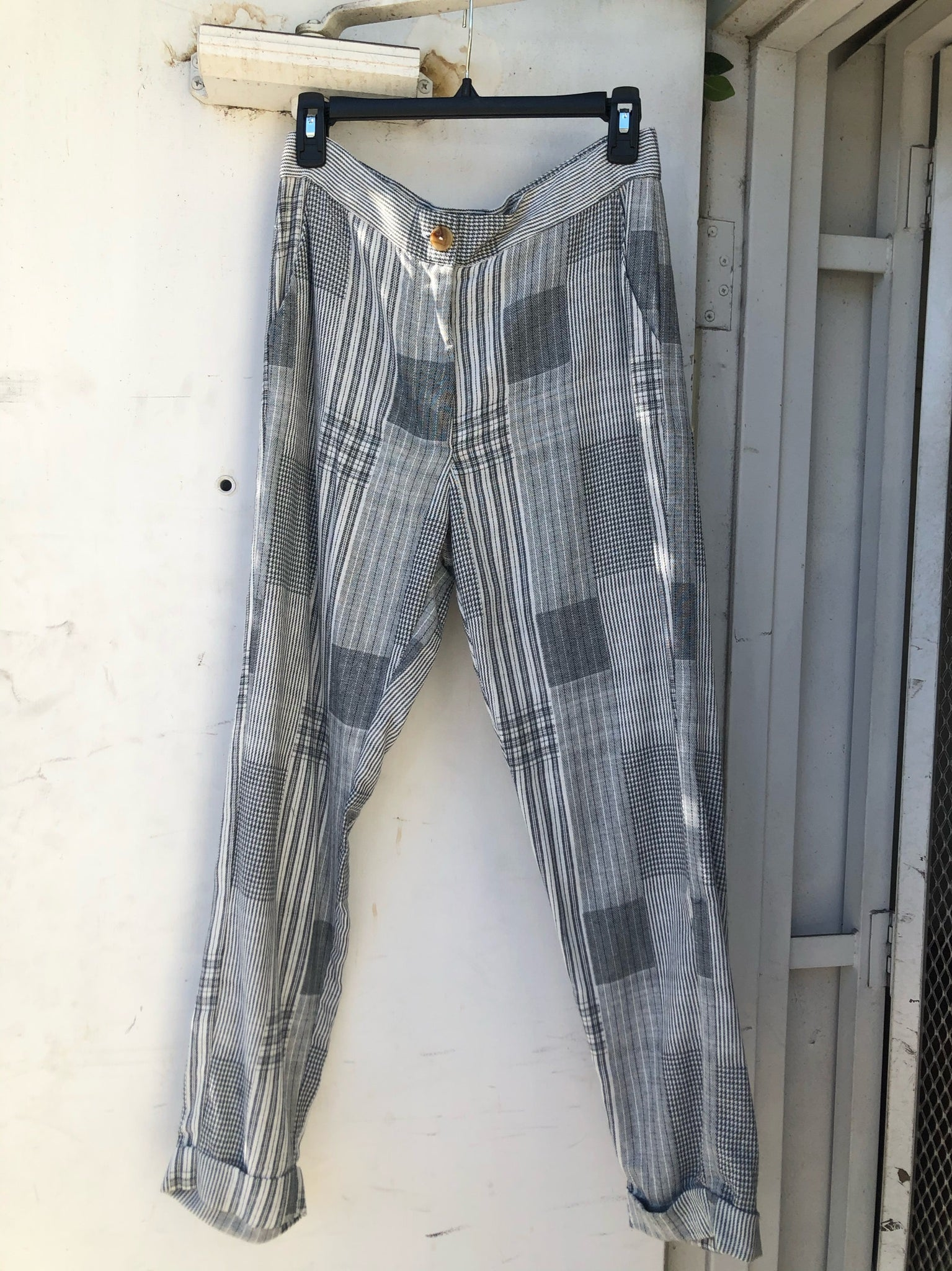 Dayandra Pant in Plaid - Size S