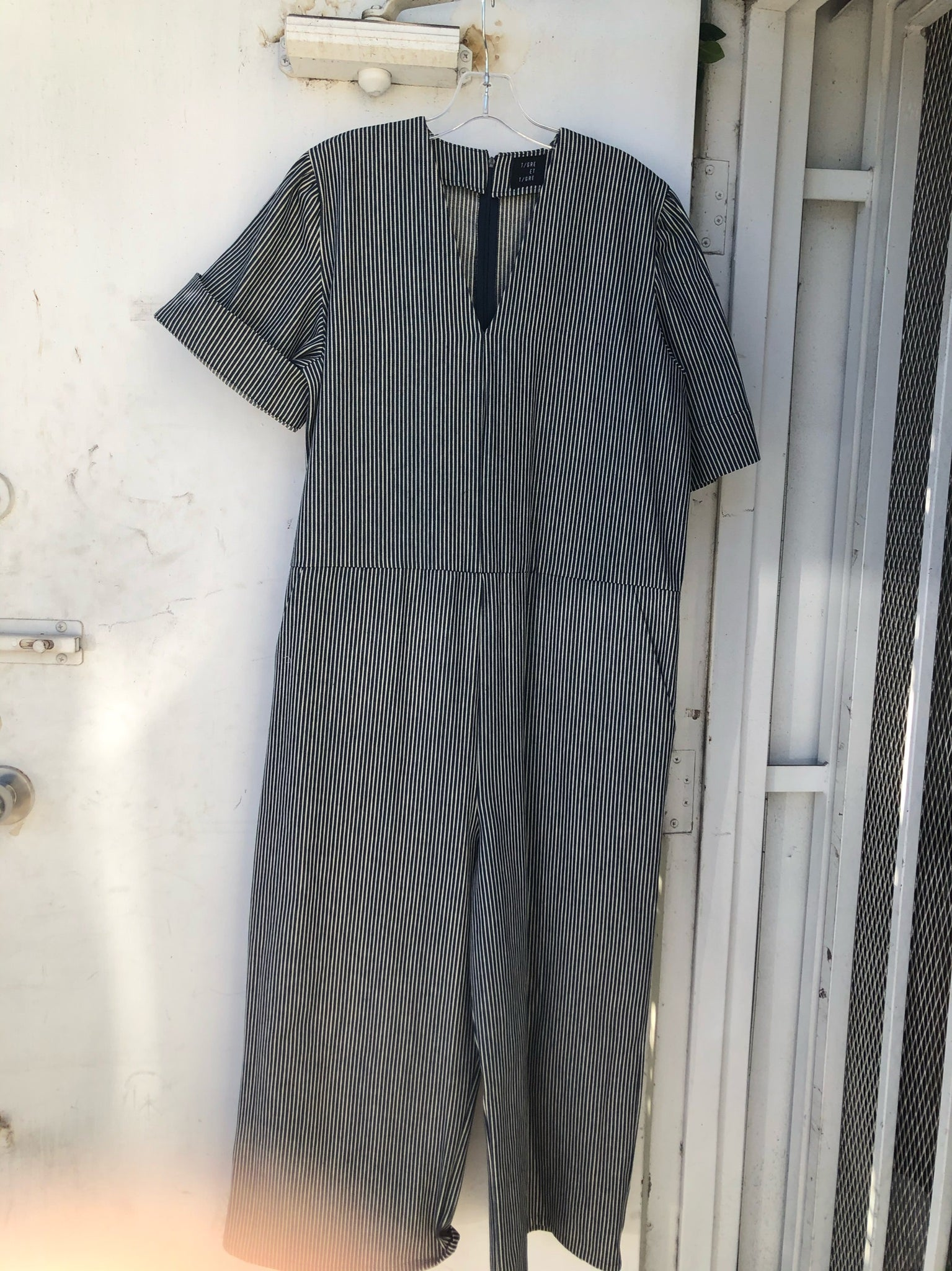 Ryan Jumpsuit in Railroad - Size XS/S
