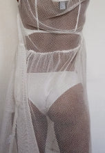 Load image into Gallery viewer, Rosario Dress (Short) in White Netting