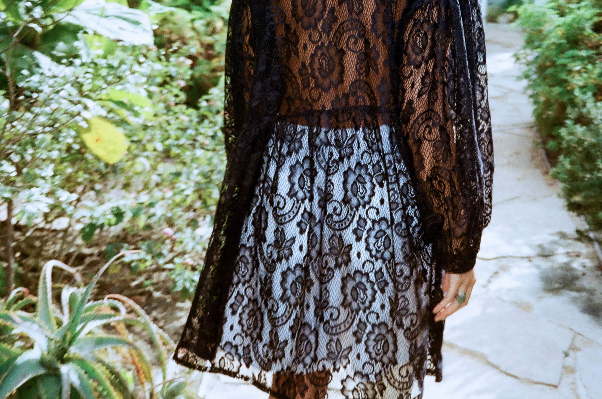 Jayme Dress (Short) in Black Lace