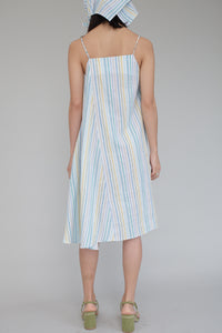 Angela Dress in Thin Stripe