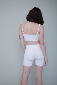 Michelle Biker Short Set in Cream